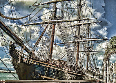 Print featuring the photograph Grand Old Sailing Ship by Roberta Byram