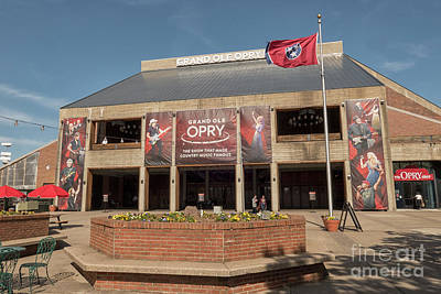 Photograph - Grand Ole Opry Front View by Patricia Hofmeester