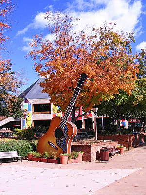 Grand Ole Opry Guitar Art Print