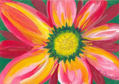 Gerber Daisy Painting - Grand Opening by Carey Waters