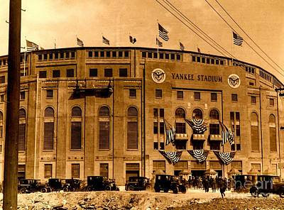 Photograph - Grand Opening Of Old Yankee Stadium April 18 1923 by Peter Gumaer Ogden