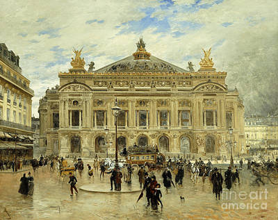 Nineteenth Century Painting - Grand Opera House, Paris by Frank Myers Boggs