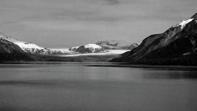 Photograph - Grand Pacific Glacier  B/w by Judy Wanamaker