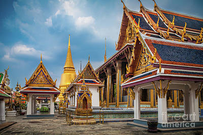 Buddhism Photograph - Grand Palace Square by Inge Johnsson