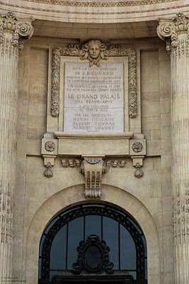 Photograph - Grand Palais Details - 1  by Hany J