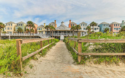 Photograph - Grand Pavilion And Boardwalk In Wild Dunes Resort by Donnie Whitaker