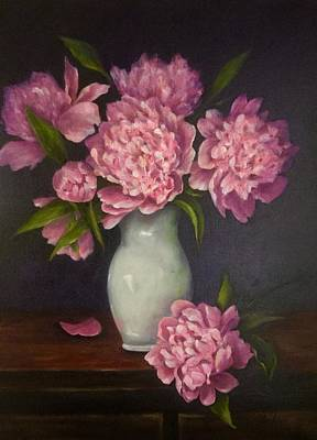 Painting - Grand Peonies by Anne Barberi
