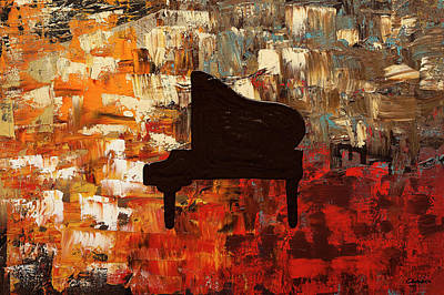 Painting - Grand Piano by Carmen Guedez