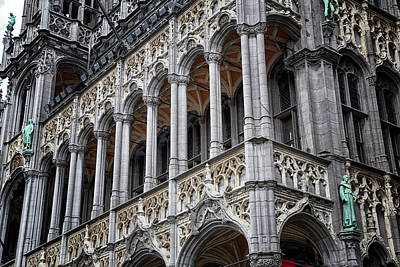 Bruxelles Photograph - Grand Place Brussels Building Detail by Georgia Fowler