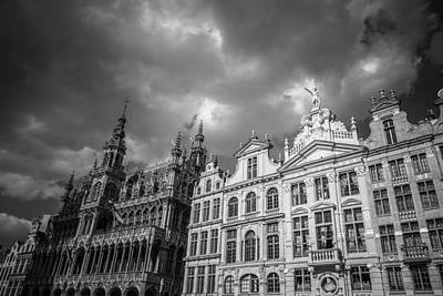 Brussels Photograph - Grand Place Mono 1 by Chris Fletcher