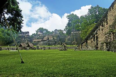 Photograph - Grand Plaza, Tikal by Marius Sipa