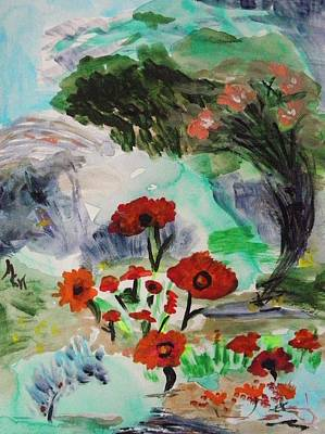 Painting - Grand Poppies by Mary Carol Williams