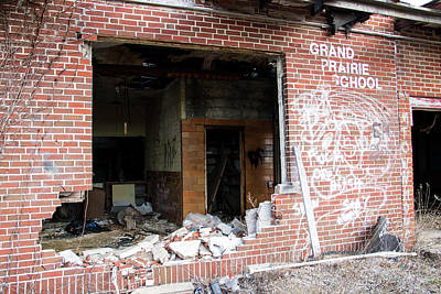 Vandalize Photograph - Grand Prarie School 3 by Jeff Roney