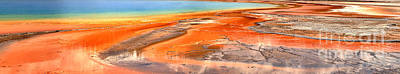 Photograph - Grand Prismatic Bacterial Mat Abstract by Adam Jewell