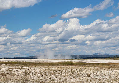 Geothermal Photograph - Grand Prismatic Basin Steam IIi by Kathleen Garman