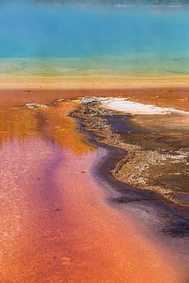Photograph - Grand Prismatic Cu Yellowstone  by John McGraw