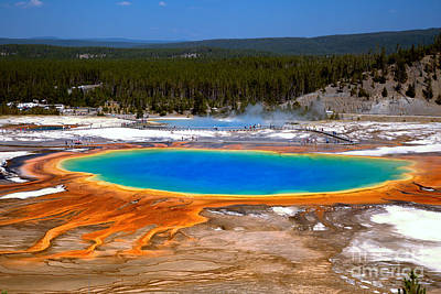 Photograph - Grand Prismatic Overlook by Adam Jewell