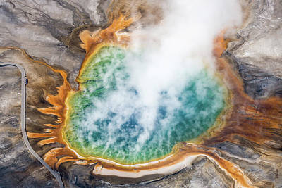 Photograph - Grand Prismatic Spring 1 by Janet Jones