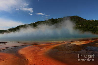 Photograph - Grand Prismatic Spring At Yellowstone's Midway Geyser Basin by Christiane Schulze Art And Photography