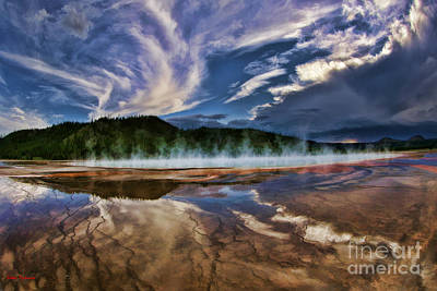 Photograph - Grand Prismatic Spring by Blake Richards