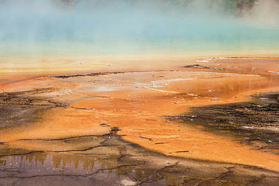 Photograph - Grand Prismatic Spring Close Up  by John McGraw
