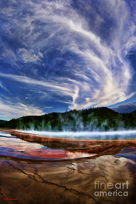 Photograph - Grand Prismatic Spring Paradise by Blake Richards