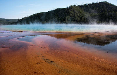 Photograph - Grand Prismatic Spring Up Close by Jennifer Ancker