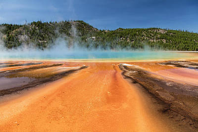 Photograph - Grand Prismatic Spring Yellowstone National Park by John McGraw