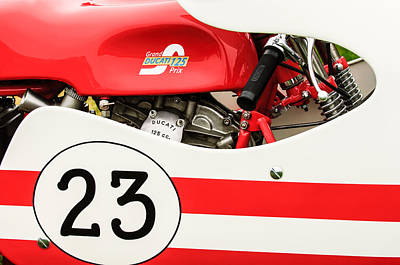 Photograph - Grand Prix Ducati 125 Motorcycle -2109c by Jill Reger