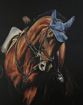 Painting - Grand Prix Jumper by Joan Frimberger