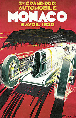 Photograph - Grand Prix Monaco by Vintage Automobile Ads and Posters