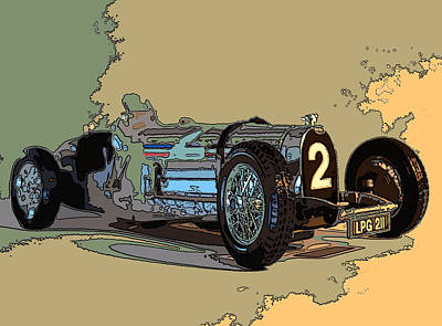 Photograph - Grand Prix Racer by James Rentz