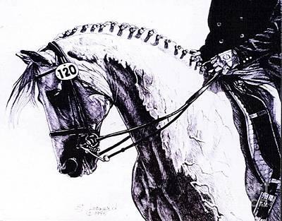 Dressage Drawing - Grand Prix by Suzanne Leonard