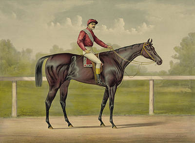 Sports Paintings - Grand Racer Kingston - Vintage Horse Racing by War Is Hell Store