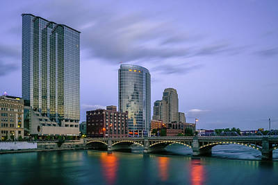 Photograph - Grand Rapids Dusk by Ryan Heffron