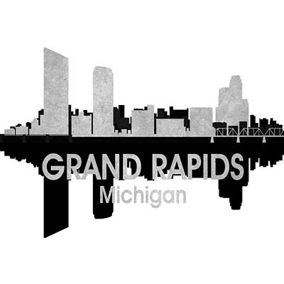 Rapid Mixed Media - Grand Rapids Mi 4 Squared by Angelina Vick