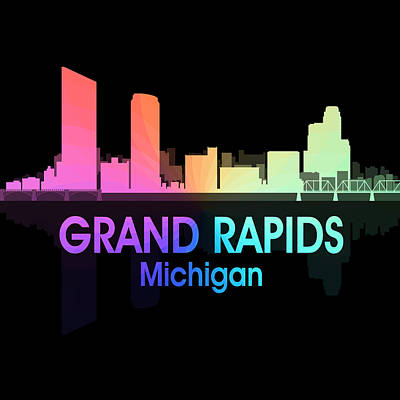 Rapid Mixed Media - Grand Rapids Mi 5 Squared by Angelina Vick