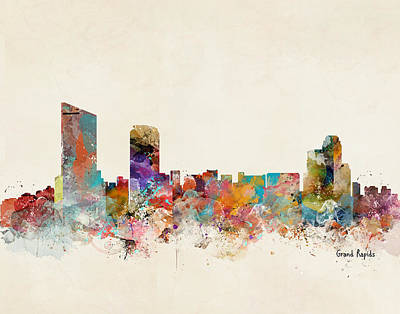 Grand Rapids Painting - Grand Rapids Michigan by Bri B