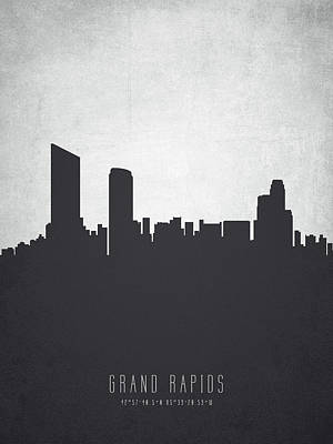 Grand Rapids Painting - Grand Rapids Michigan Cityscape 19 by Aged Pixel