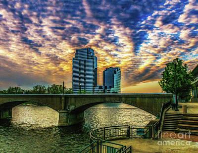 Photograph - Grand Rapids River Walk by Nick Zelinsky