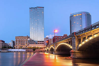 Photograph - Grand Rapids Riverfront by Ryan Heffron