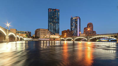 Photograph - Grand Rapids Skyline by Ryan Heffron