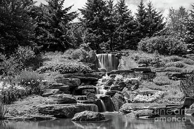 Photograph - Grand Rapids Waterfall Grayscale by Jennifer White