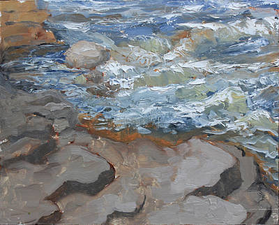 Painting - They Speak Of Trout by Gilles Lafond