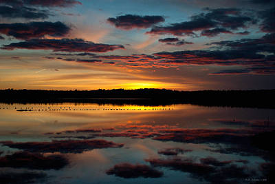 Photograph - Grand River Sunset by WB Johnston