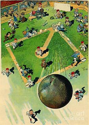 Art Lithographs Photograph - Grand-slam Homerun 1913 by Padre Art