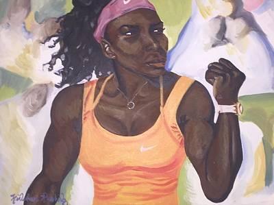 Serena Williams Painting - Grand Slam by Kinshasa Rushing