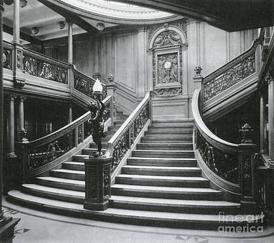 Photograph - Grand Staircase Of The Titanic by Photo Researchers