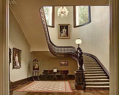Black Walnut Photograph - Grand Stairway - Governor's Mansion - Missouri by Nikolyn McDonald