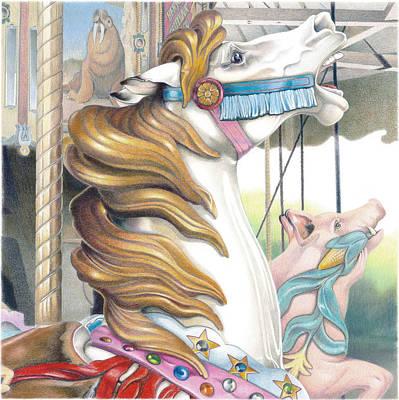Grand Strand Stallion Print by Todd Baxter